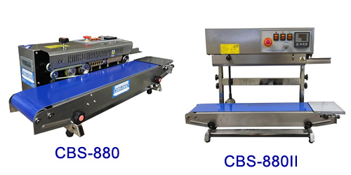Stainless Steel Right Feed Continuous Band Sealers