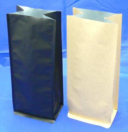 Block Bottom Side Gusseted Bag with No Valve