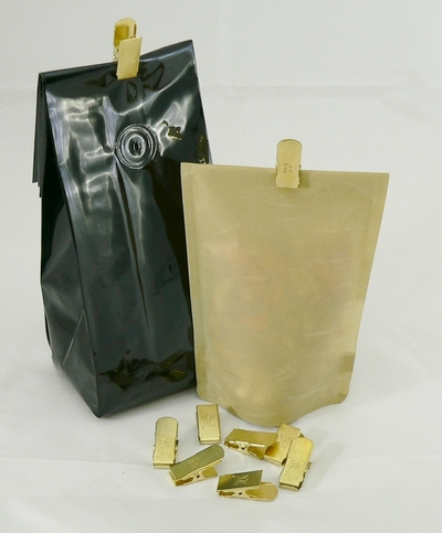 Metal Bag Clips with bags