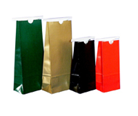 Colored Tin Tie Paper Pouch, With Poly Liner, No Window