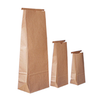 Tin Tie Paper Bags with PLA liner, no window